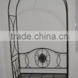 China export rest & decoration metal garden arch with bench