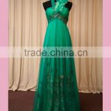 Green halter bridesmaid dress for fat