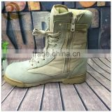 China shoes factory suede fashion beige leather army tactical best military boots