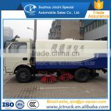 Manual Transmission Type and Diesel Engine Dongfeng 3800mm wheelbase truck mounted sweeper with broom manufacturer in China