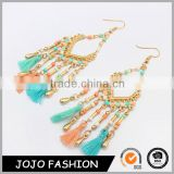 New fashion women earring jewelry bead earring drop tassel women earrings                                                                                                         Supplier's Choice