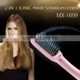 ELECTRIC HAIR STRAIGHTENER BRUSH LCD ION ANTI-SCALD COMB AUTO MASSAGER