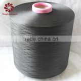 hangzhou china supplier dty 200D/144F polyester yarn semi-dull dope dyed black from 75D-600D