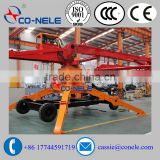 Telescoping Lift Concrete Spreader boom 18m with wheel