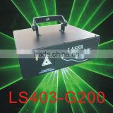 Single Green 200mW Animation writing Laser Light by Scanner