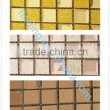 2015 self-adhesive glass mosaic tile for bathroom tile designs/bathroom tile