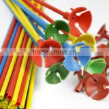 Children Safety Stand Plastic Balloon Holder Sticks & Cups Multi color Party Decoration FS0089