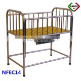 NFEC14 Clinic steel bed metal baby cot