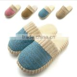 Warm New Autumn and Winter Men&Women Cotton-Padded Lovers At Home Slippers Indoor Shoes Slippers