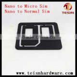 Fashionable black nano mobile standard sim card holder inner retail packing for iPhone 4 4S Samsung HTC