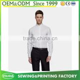 Latest Model Men's Business Dress shirt 100% Cotton White Dress Shirt Made In China