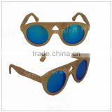 Revo Blue Bamboo Handcrafted Wooden Sunglasses with Polarized UV400 Lens