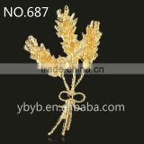yiwu metal leaf hair accessories jewelry accessories garment accessories and trims--687