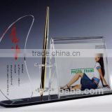 Morden and fashion clear acrylic desktop pen holder wholesale