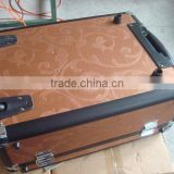 PVC trolley case repairs,rolling luggage briefcase with polyester and pocket inner,travel luggage case