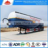 3 Axle bulk cement tanker semi trailer 60 Ton/Semi-Trailer Type and Truck Trailer Use Cement Bulker/bulk cement