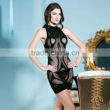 Sexy lingerie Lady's bag hip Bud silk skirt Hollow out mesh gauze clothing