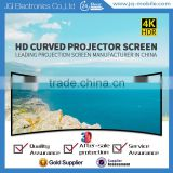 Indoor 3D projector screen fixed frame screen / curved frame projection screen with pvc white matte curtain