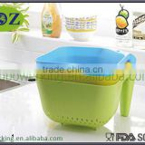 fruit and vegetable plastic colander and bowl, plastic baskets, plastic colander with handle