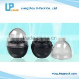Oval-shaped dome lid lip gloss container & Jars