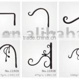 hand forge wrought iron flower hanging brackets