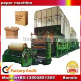 High speed 25T/D duplex board paper making machine price,kraft paper machinery/corrugated paper machine popular in Asia.