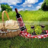 5 PCS GROUND STAKE WINE BOTTLE AND GLASS HOLDER
