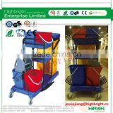 Janitor's Multifunction Hotel Cleaning Trolley