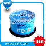OEM Brand 700mb 80min 52x cdr with Lowest Error Rate/ Professional Manufacturer Blank cd