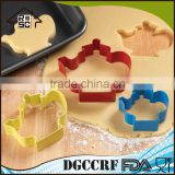 NBRSC Hot Products Custom Design Teapot Party Stainless Steel Baking Pastry Metal Cookie Cutter Set