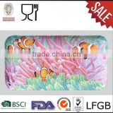 Custom printing melamine divided plate melamine breakfast trays wholesale melamine trays