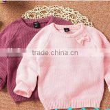 fashion crew neck long sleeve baby girls sweater