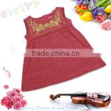 Summer lovely girls baby sleeveless cotton high quality t-shirt with printing make to order