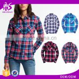 Guangzhou Shandao New Autumn Casaul Design Long Sleeve Checked Printed Cotton Pictures Of Blouses For Girls