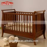 Fashion new arrival bed extender for baby carved teak wood baby swing cradle bed