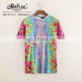 Peijiaxin Latest Design Casual Style Wholesale All Over Print Tshirt Men2017