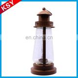 Promotional Price China Manufacturer Tall Glass And Metal Candle Holders Hanging Lantern Stand