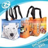 Outside Travel Carrying Full Colors Lamination PP Non-woven Tote Bag