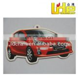 Good quality absorbent paper car store own logo paper air freshener with black ice aroma for car