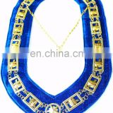 REGALIA MASONIC KNIGHT TEMPLAR METAL CHAIN COLLAR BLUE