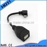 Right angle TPE Braid Shield charging data Micro Usb cable