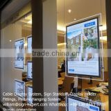 Real Estate Agent Window Hanging Light Box LED Acrylic Display