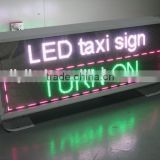 DC 9-36V P5 led car message moving scrolling sign display/led lighted sign taxi /acrylic led sign for taxi
