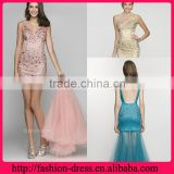 Fashional V-neckline and Sphaghate Straps Beaded Bodice Removable Skirt Hot Pink Plus Size Evening Dresses