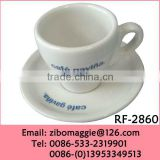 Zibo Made Popular Wholesale Promotion Porcelain Espresso Coffee Cup and Saucer for Coffee Shop