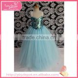 Princess style light green girls' dress circular flash decoration                                                                         Quality Choice