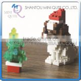 Mini Qute X-BLOCK Christmas Dog Santa Claus motorcycle diamond plastic building block scale model educational toy NO.XJ 4985