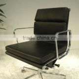 Replica High Quality Aluminum Frame black color Charles and Ray low back soft pad office chair,Fauteuil soft pad group chair