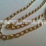 Light Gold Flat Aluminum Curb Chain For Jewelry