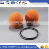Factory directly sell soft cleaning ball, pipe sponge rubber ball,concrete pumps cleaning sponge ball